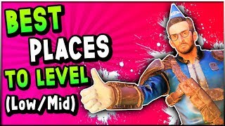 Fallout 76 - BEST Places To LEVEL FAST For BEGINNERS & MID Level Players (Fallout 76 Leveling Guide)