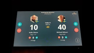 Michael Nilsson vs Nalle Olsson - 40 points in 9 innings - 3 cushion