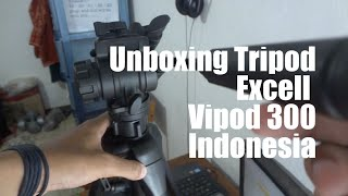 Tripod Excell Vipod 300 video tripod fluidhead DSLR Camera Handycam