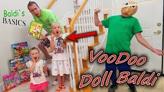 Baldi's Basics in Real Life VooDoo Doll!  Family Games Scavenger Hunt!!