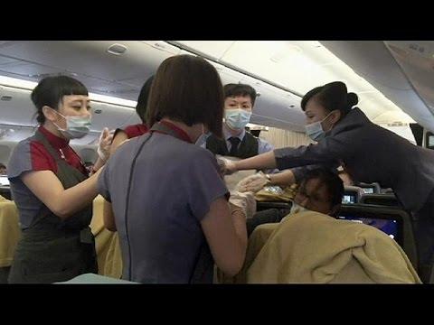 Γέννηση σε αεροπλάνο εν πτήση!