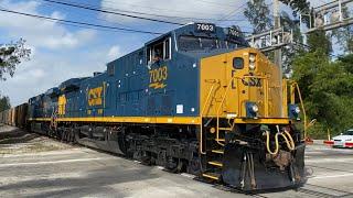 CSX Trains in Greater Miami, Florida!
