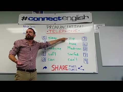 Connect English Pronunciation Telephone, Volume 10 - La Jolla Campus