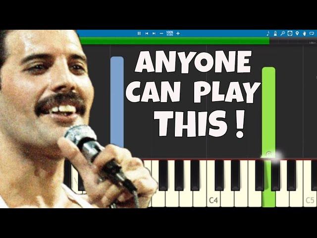 Queen - Bohemian Rhapsody - EASY Piano Tutorial For Beginners