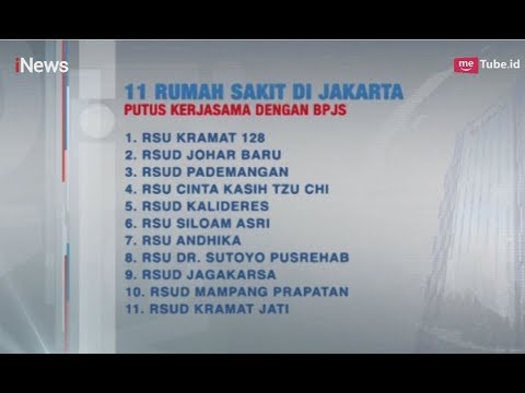Sejumlah Rumah Sakit Putus Kontrak dengan BPJS Kesehatan, Ada Apa? - iNews Siang 03/05