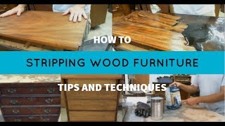 Furniture Finish Removal Tips And Techniques - How To Strip Furniture Finishes
