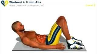 Най - Добрата Тренировка За Кормени Мускули - 8 Упражнения По 8 Минути На Ден За 6 Плочки - Част 2