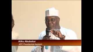 APC Presidential Ticket Aspirants Atiku Abubakar Unveils Policy Document