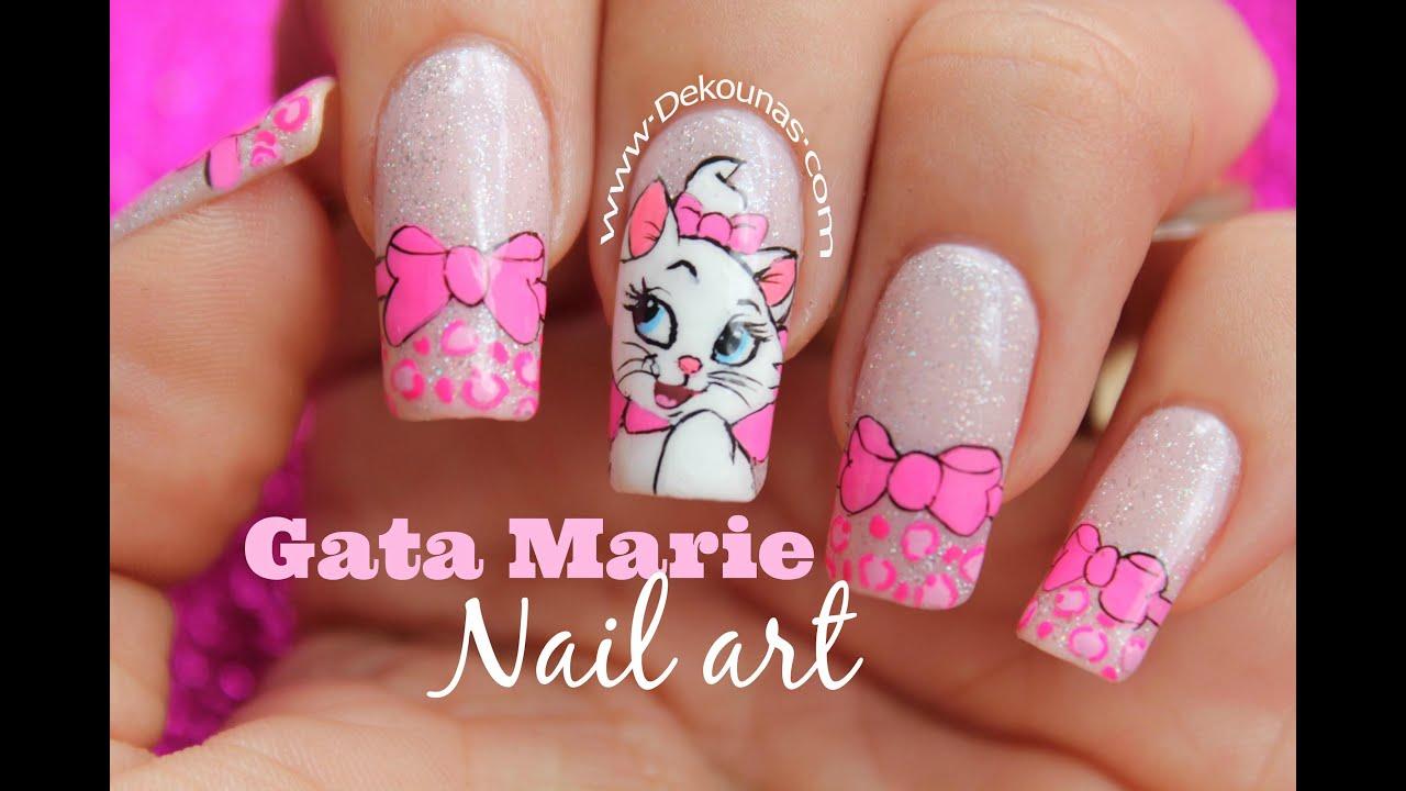 Video Decoración de uñas gata Marie - Marie cat nail art