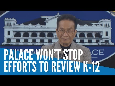 [Inquirer]  Palace to push on with efforts to review K-12