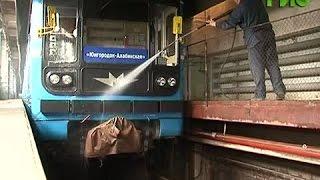"""""""Банный день"""": Чем моют вагоны метро?"""