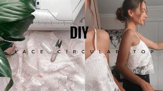 DIY Lace Circular Top / Easy 30 Min Top