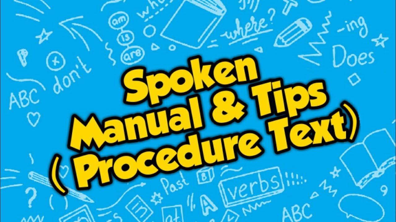 Contoh manual and tips SMK