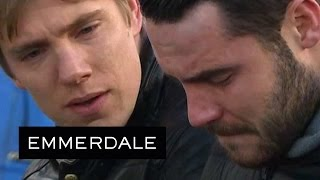 Emmerdale - Robert Confides In Aaron About Gordon