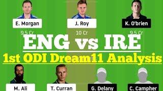 ENG Vs IRE 1st ODI Dream11 Team Analysis, ENG Vs IRE Dream 11 Today Match, England Vs Ireland ODI