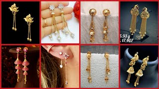 Gorgeous And Stylish Long Chain Gold Earrings Designs