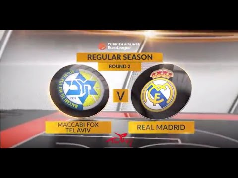 EuroLeague Highlights RS Round 2: Maccabi FOX Tel Aviv 82-89 Real Madrid
