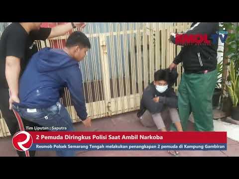 Detik detik 2 Pemuda Diringkus Polisi Saat Ambil Narkoba