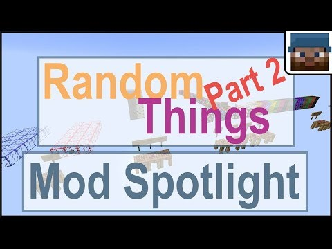 Minecraft Talk 36 - Mod Spotlight--Random Things, part 2