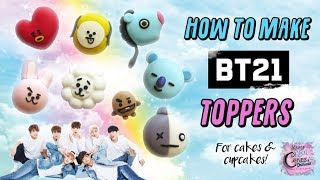 BTS | BT21 Cake And Cupcake Toppers! BTS 과 BT21 케이크와 컵 케이크 토퍼