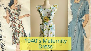1940's Maternity Dress| Vintage Sew And Tell