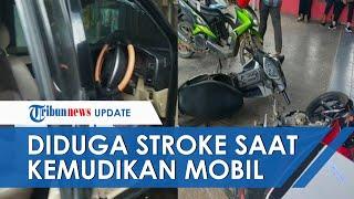 Diduga Stroke Mendadak saat Setir Kendaraan Dinas, Mobil ASN Hantam Toko Elektronik di Muaraenim
