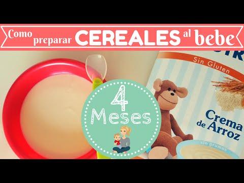 Como Preparar CEREALES para nuestro BEBE / Receta bebe de 4 MESES