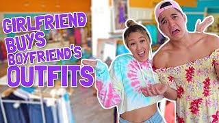 GIRLFRIEND BUYS BOYFRIEND'S OUTFITS! | Shopping Challenge 2017
