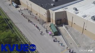 Early voting in Austin, Central Texas   Long lines, wait times   Arbor Walk mega-center DroneVue
