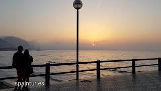 Восход солнца в Аликанте, Испания, 28.04.2018. Аренда квартир на лето в Alicante, spaintur