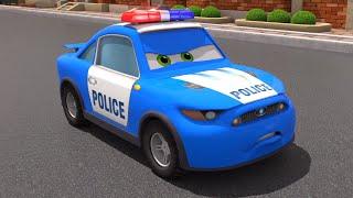 Полицейская Машинка и друзья - Привидение | Моторвиль - 3D Мультики про Машинки