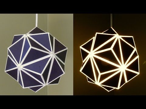Geometric Lamp - How To Make A Geometric Paper Lampshade - EzyCraft Mp3