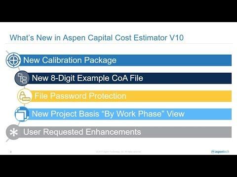 What's New in Aspen Capital Cost Estimator? - YouTube