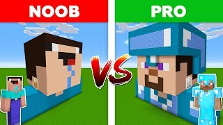 Minecraft NOOB vs PRO: DIAMOND PRO HOUSE vs NOOB HOUSE BATTLE in Minecraft!