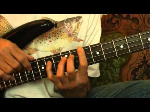 Blues Chords on Bass Guitar Lesson
