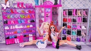Mega kolekcja butów Barbie 👠 Nowa szafa Barbie 👠 Bajka po polsku z lalkami odc.48
