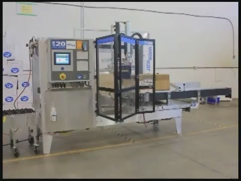 Fully Automatic Case Former/Case Erector Wexxar WF 20 Video - Wexxar Case Erector - WF20, 20 cases/minute - sold by Package Devices LLC