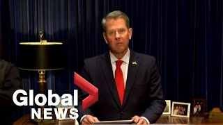 Gov. Kemp says Georgia law requires governor's office to formalize US election certification   FULL