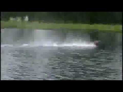 RC Car Skims Across 365 Feet Of Water