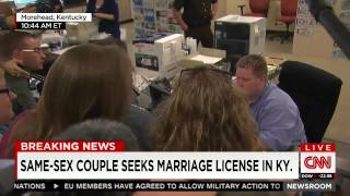 Anti Gay Marriage Protester Shouts at Lesbian Couple