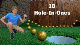 Scoring 18 HOLE IN ONES *Mini Golf Trick Shots* | That's Amazing