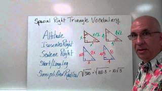 Troutman Special Right Triangle Vocabulary 3.40