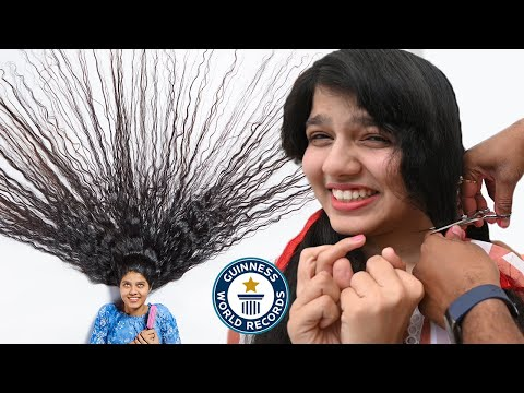 The Longest Hair in the World gets Cut