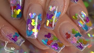 Disney Nails| Glitter Nails| Acrylic Nails
