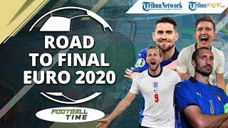 FOOTBALL TIME: Road To Final Euro 2020, Adu Kuat Duet Palang Pintu Italia vs Meriam Gol Inggris