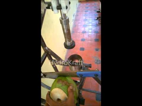 Young Tender Coconut Cutting Punching Cum Splitting Machine