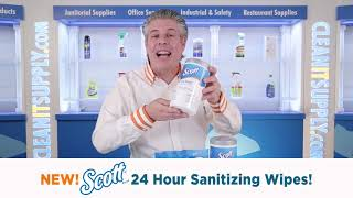 New! Scott 24 Sanitizing Wipes