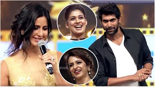 Super Fun to see Katrina Kaif Showing Rana Daggubati how Actresses enact Shy scenes on screen.