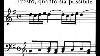 Scarlatti / Pamela Cook, 1967: Sonata in G Major, L 286 / K 427