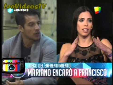 Mariano encaro a Francisco para hablar GH 2015 #GH2015 #GranHermano